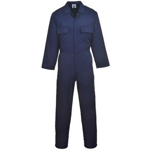 Polycotton Stud Front Coverall