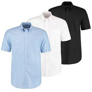 Mens Deluxe Short Sleeve Oxford Shirt