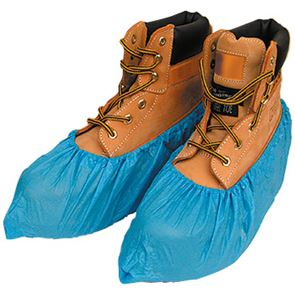 Blue Disposable Polythene Overshoes (X100)