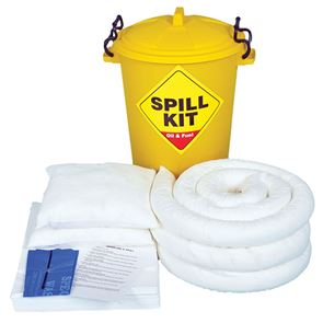 Oil Only Spill Kit in Plastic Container
