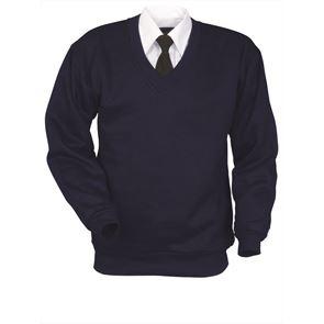 V-Neck Polycotton Sweatshirt
