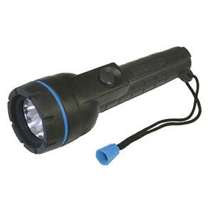 Black Rubber Cased Straight Torch