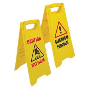 Plastic Wet Floor Sign