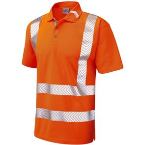 Hi Vis Polo Shirt with Segmented Reflective Tape