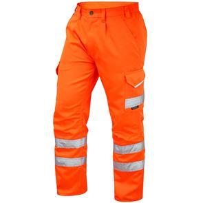 High Visibility Polycotton Cargo Work Trouser