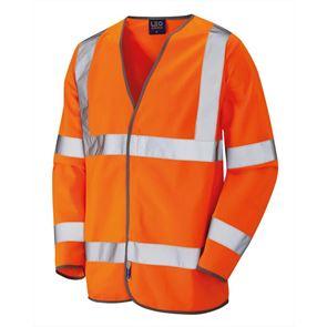 Long Sleeve High Visibility Waistcoat
