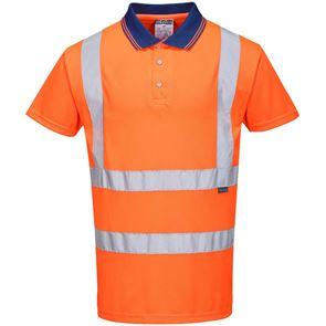 High Visibility Polyester Polo Shirt
