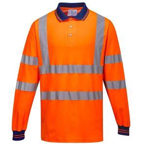 Long Sleeved High Visibility Polo Shirt