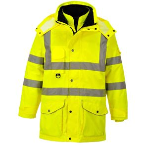 High Visibility Waterproof 7-In-1 Breathable Coat