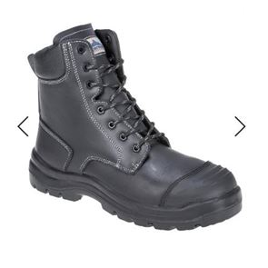 Mid-Leg Zip-Up Safety Boot