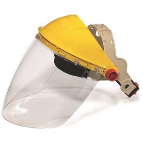 Shape Faceshield Ratchet Headband Molded Polycarbonate Visor - Clear