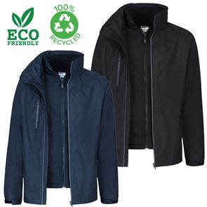 100% Recycled 3-in-1 Jacket with Softshell Inner